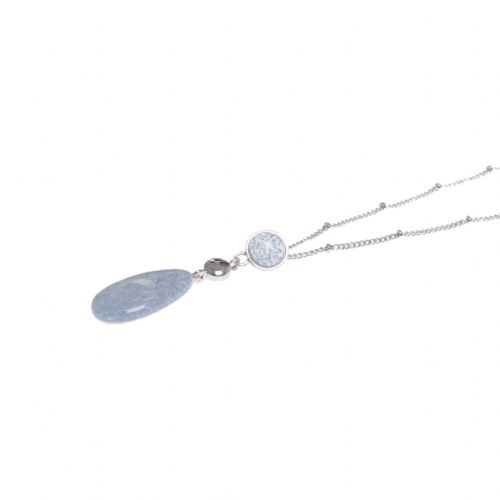 Miss Milly Blue Grey Droplet Necklace